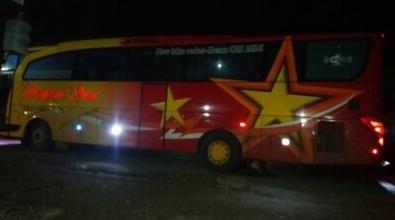 Bus Sempati Star Tabrak Orang Gila di Padang Tiji