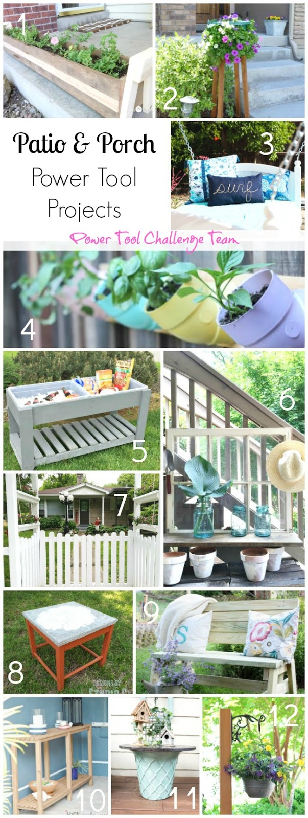 Patio and Porch Power Tool Projects and Long Porch Planters, My Love 2 Create