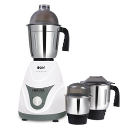 Inalsa Eon 550-Watt Mixer Grinder with 3 Jars (White/Grey) for Rs.1499 Only @ Amazon (Limited Period Deal)