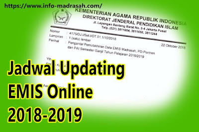 Jadwal Updating EMIS Online 2018-2019