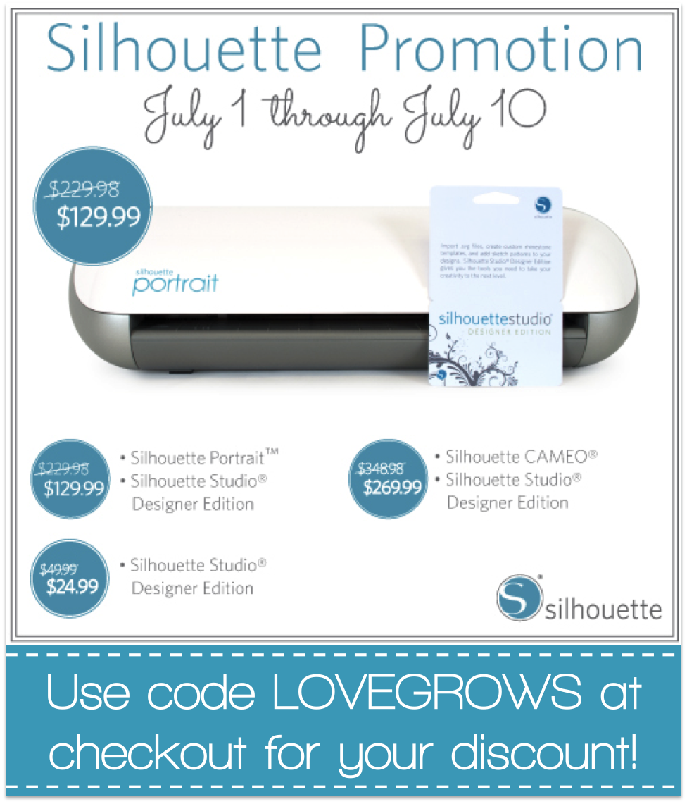 Silhouette Studio Designer Edition Promotion Love Grows Wild