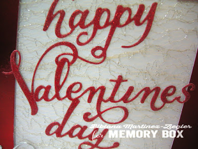 Valentines in red card detail script