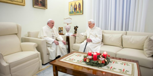 Pope Francis offers his Christmas greetings to the Pope Emeritus