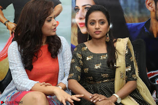 Actress Suma in Black Salwar Suit and Anusuya in orange Dress at winner movie press meet part 2 February 2017 (66).JPG