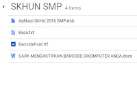 Aplikasi SKHU Sementara Jenjang SMP Format Excel