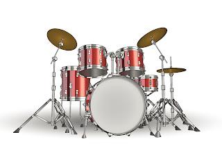 細部まで精密に描いたドラムセット fine detailed drums イラスト素材