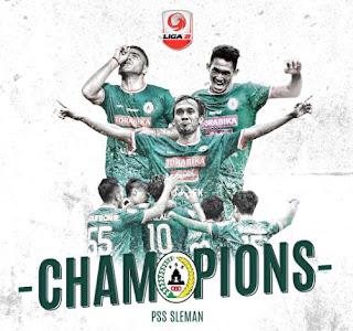 PSS Sleman Juara Liga 2 2018