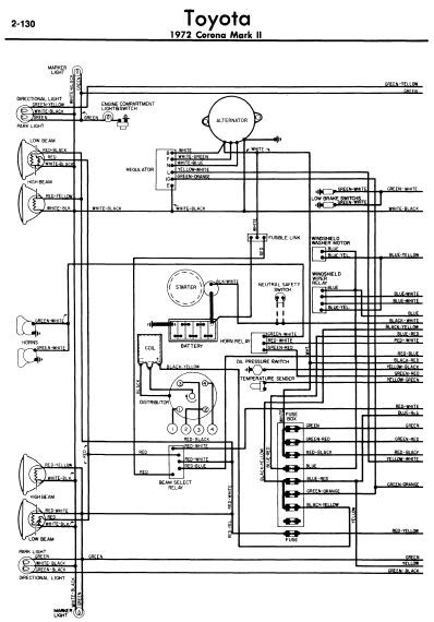 repairmanuals: Toyota Corona Mark II 1972 Wiring Diagrams