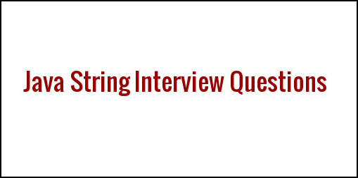 String Interview Questions