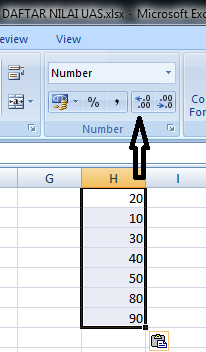 Cara Menambah Atau Mengurangi Angka Nol Dibelakang Koma Desimal Excel