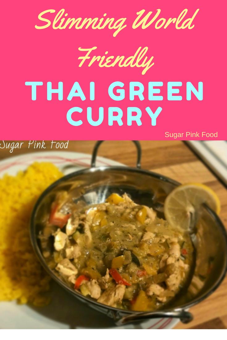 Thai Green Curry Slimming World Sugar Pink Food
