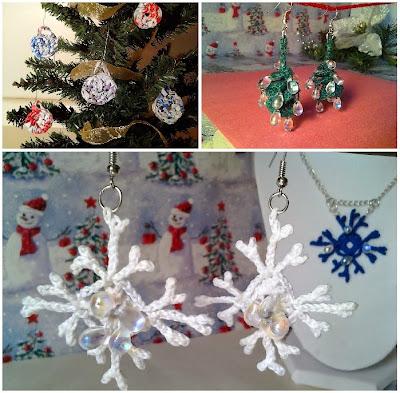 holidays, snowflake, candy drop, Christmas tree, free crochet pattern