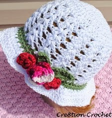 http://translate.google.es/translate?hl=es&sl=en&u=http://cre8tioncrochet.com/2013/02/adult-spring-or-easter-hat-shell-stitch-cotton-hat-with-spring-blossoms/&prev=search