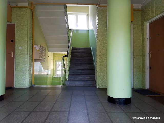 klatka schodowa architektura Warszawa Warsaw osiedle Praga Północ Szymon Helena Syrkus 1948 cegła licówka