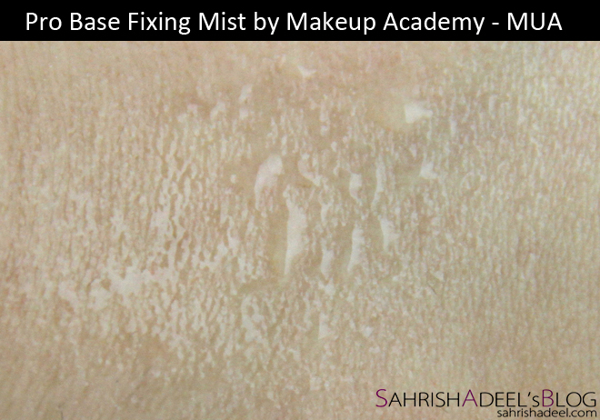 Pro Base Fixing Mist by Makeup Academy - Review & Swatch