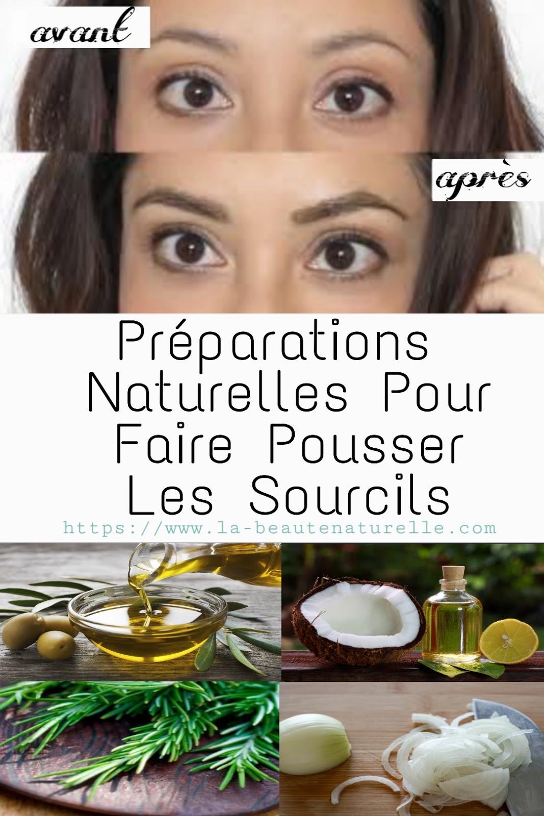 Préparations Naturelles Pour Faire Pousser Les Sourcils