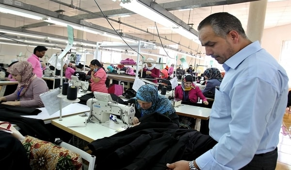 Apparel production manager in the floor
