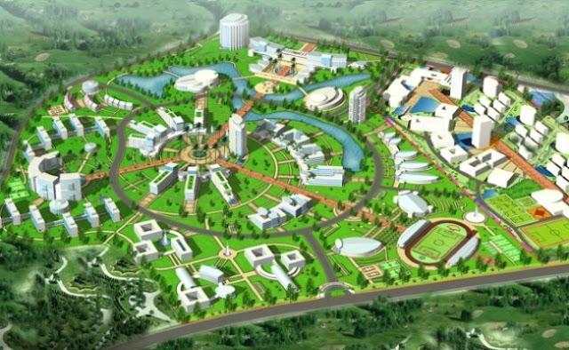 phối cảnh thiết kế quy hoạch làng đại học