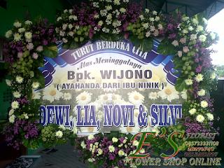 bunga papan duka cita banner digita printing