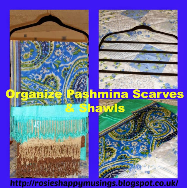 How to safely organize pashmina scarves & shawls