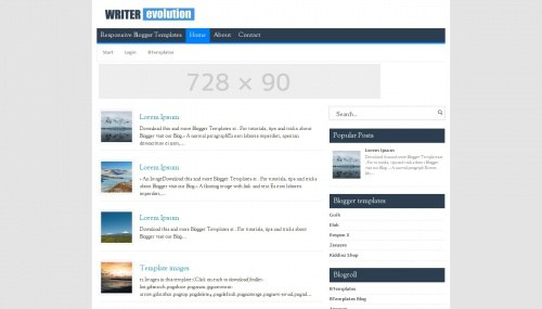 Writer Evolution || Cool Templates For Blogger | Cool Templates For ...
