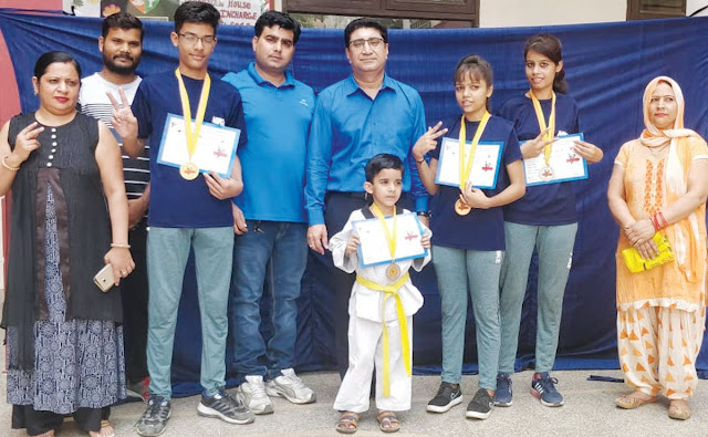 Welcome to Taekwondo players returning from Bhutan to Faridabad