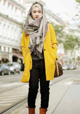 Jaket Wanita Panjang kuning