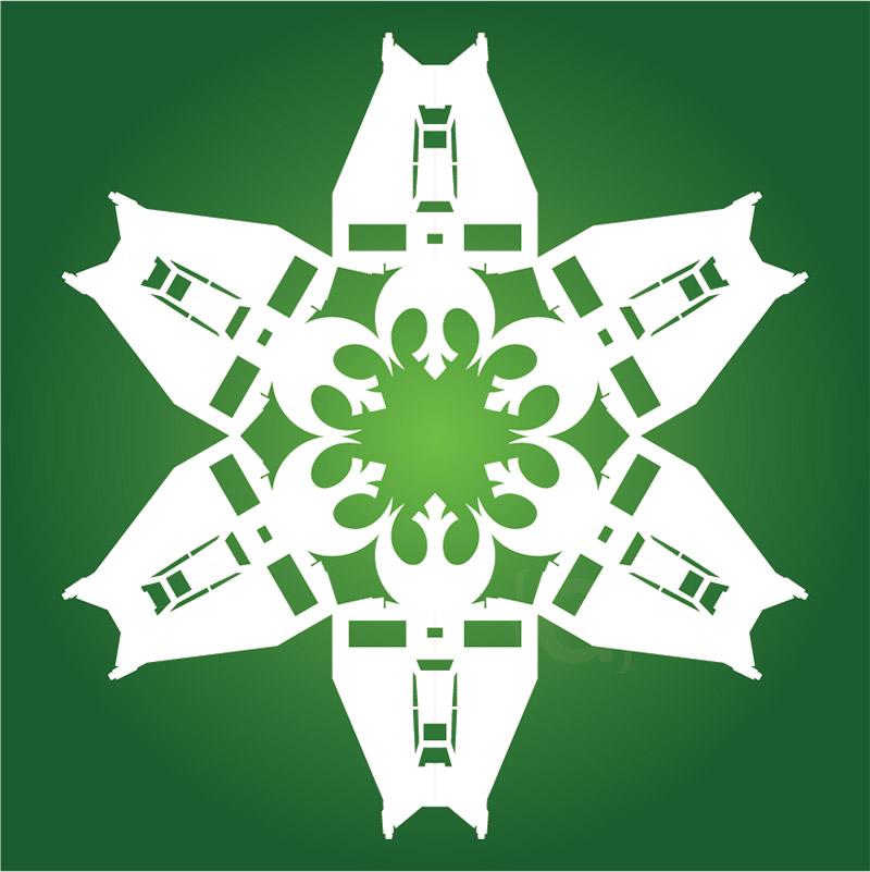 star wars airspeeder snowflake