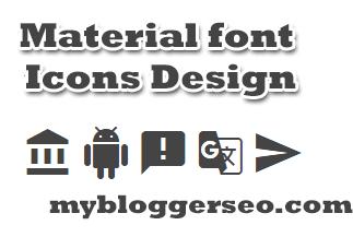 Font icons Google para design do blogger