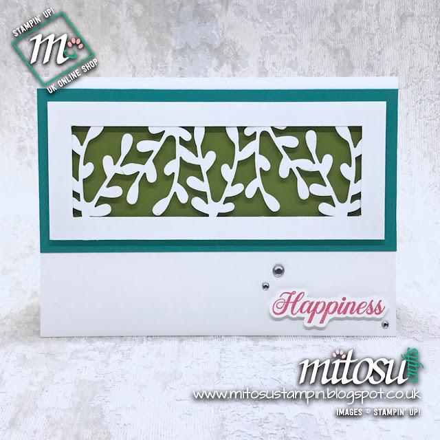 Stampin' Up! Sprig Punch Card Idea. Order craft supplies from Mitosu Crafts UK online shop