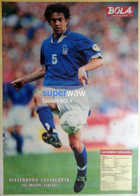 Poster Alessandro Costacurta Italia 1996