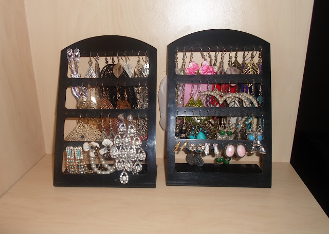 Photo of my earring collection and storage