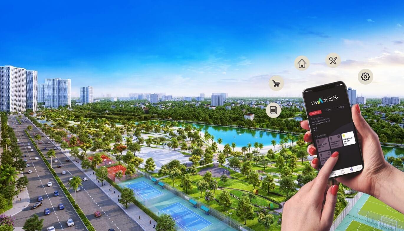 Phối cảnh tổng thể dự án Vinhomes Smart City Tây Mỗ