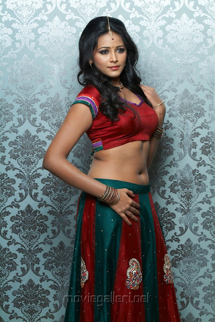 Subhiksha hot Traditional half saree Photoshoot