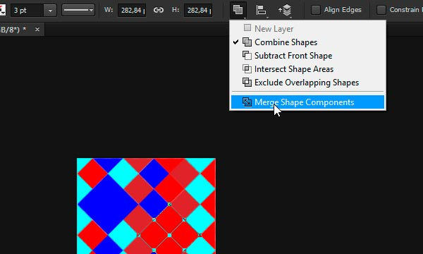 merge shape components in photoshop