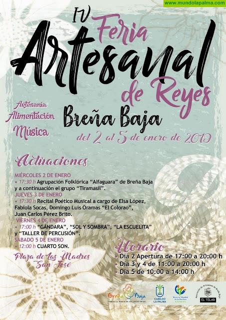 La plaza de Las Madres de Breña Baja acogerá la Feria Artesanal de Reyes entre el 2 y el 5 de enero