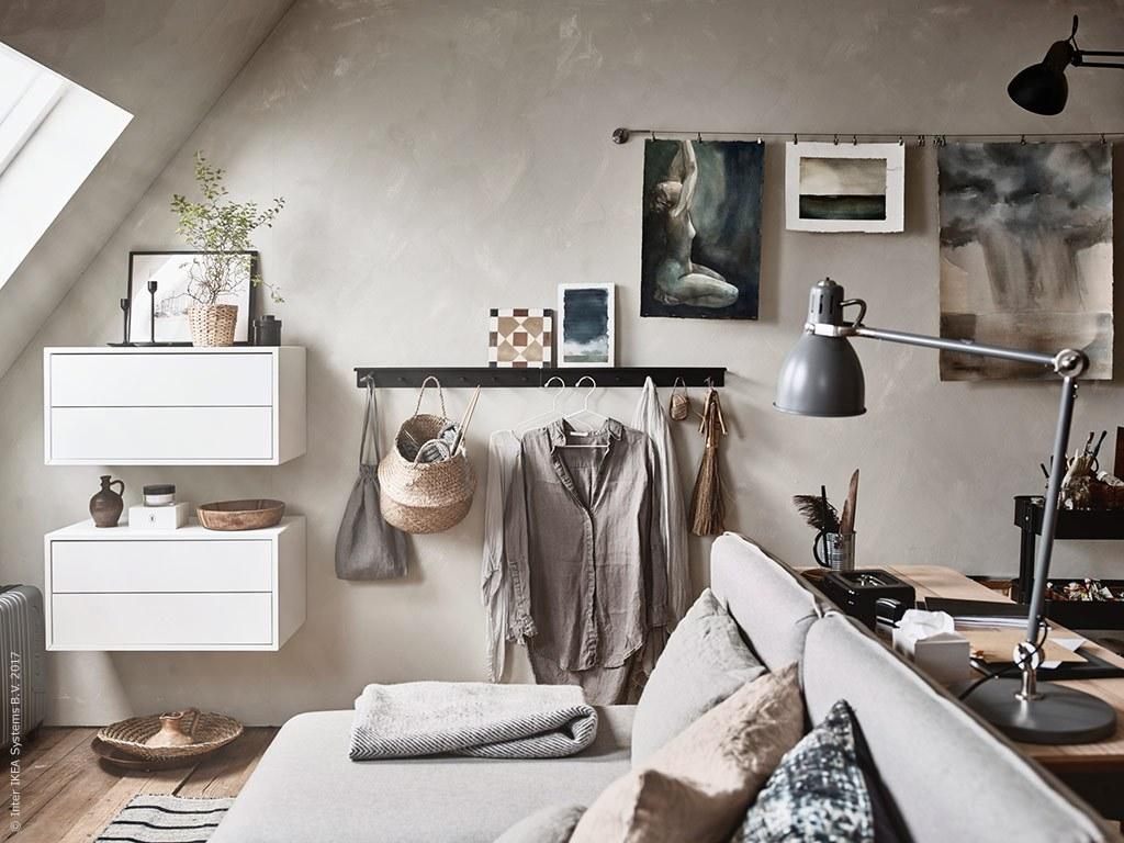 Ikea Organizzazione Ufficio : Arredare e organizzare una piccola mansarda con arredi ikea arc