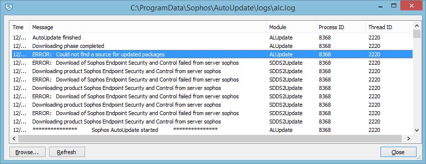 sophos vpn client hangs on install