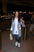 Neha Dhupia in Shirt Denim Spotted at Airport IMG 3529.JPG