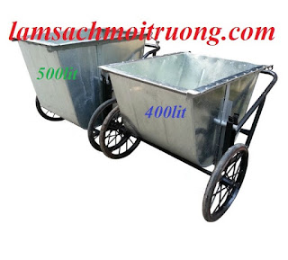 Bán xe chở rác 500 lít, xe gom rác, xe gom rác bằng tôn giá rẻ