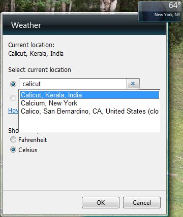 desktop Weather Gadgets for Windows 7, 8 and Vista search