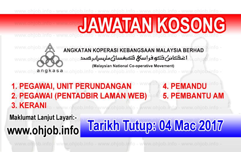 Jawatan Kerja Kosong ANGKASA - Angkatan Koperasi Kebangsaan Malaysia logo www.ohjob.info mac 2017