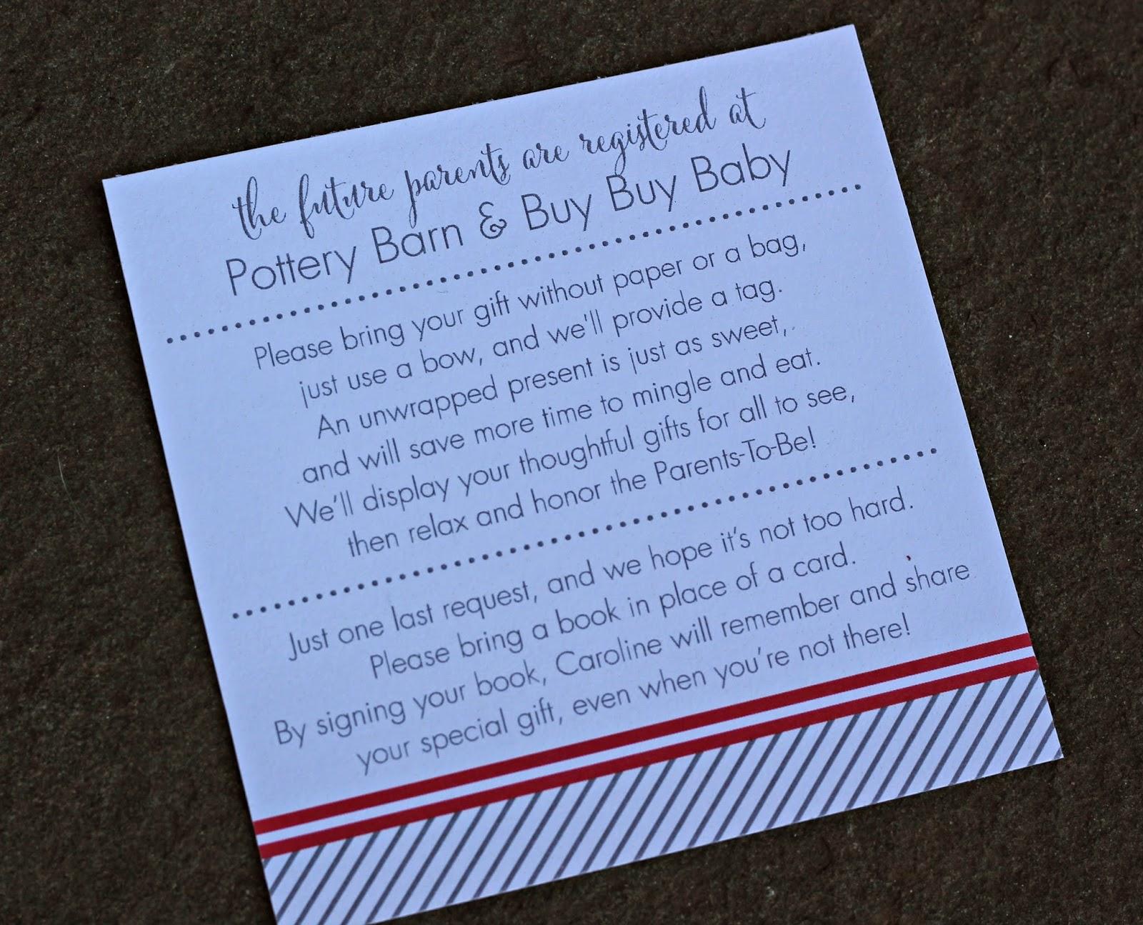 Gift Card Wedding Shower Invitation Wording: Five On Friday!