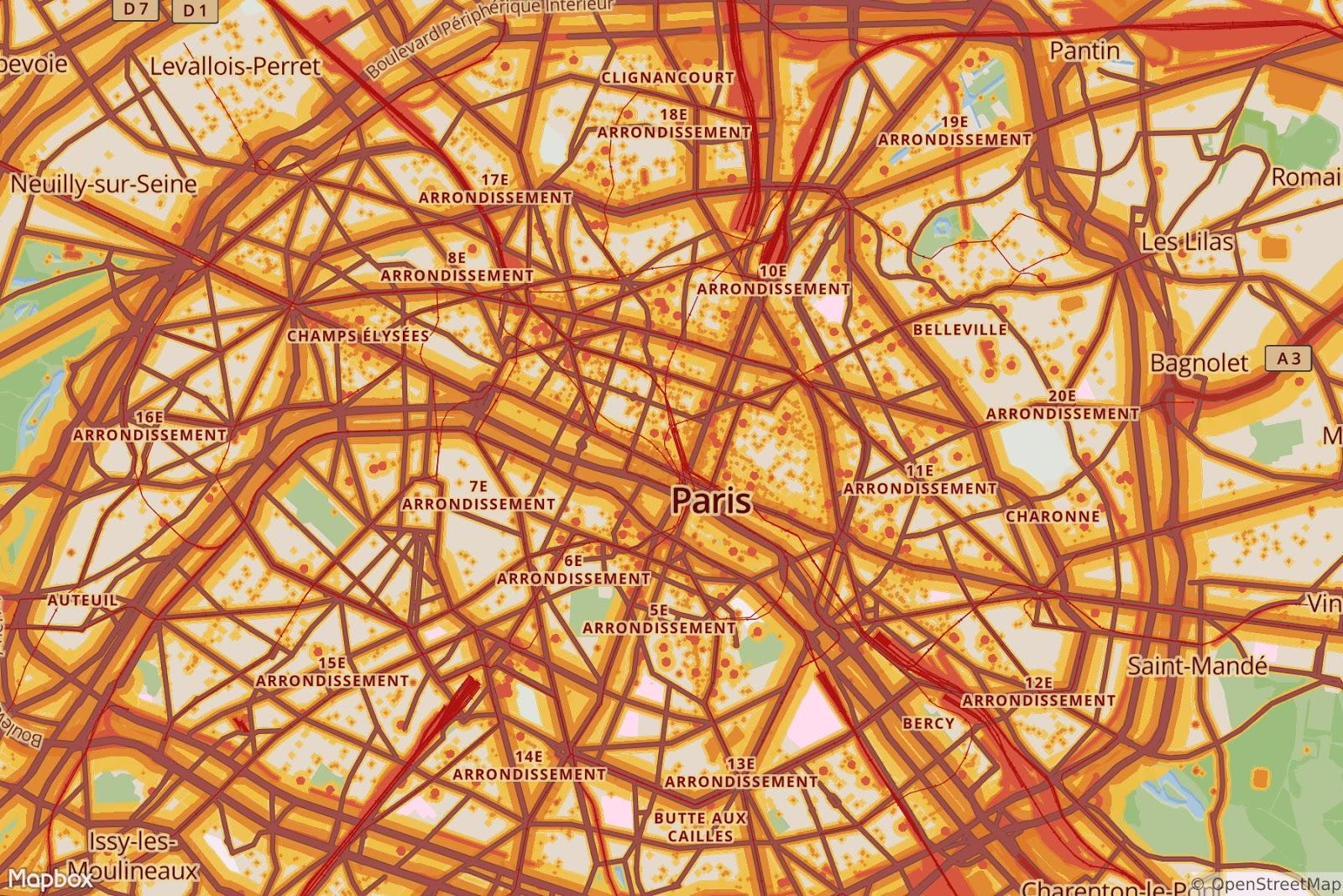 Paris - noise pollution map