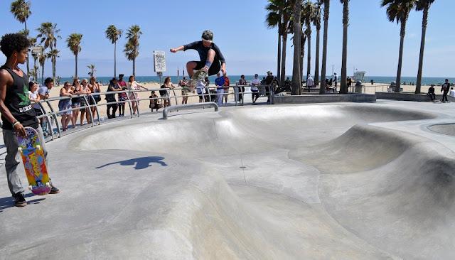 Pista de skate em Santa Mônica