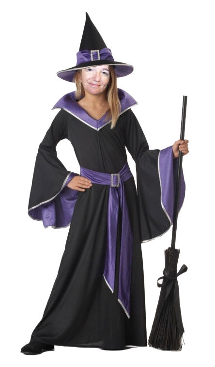 i could dress up as a glamour witch for halloween this year im sure my three sisters would say this was a perfect choice for me