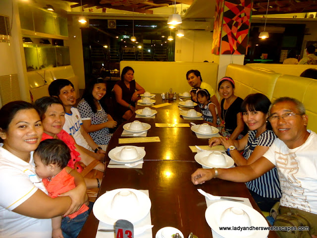 family at Ocho Seafood and Grill Tacloban