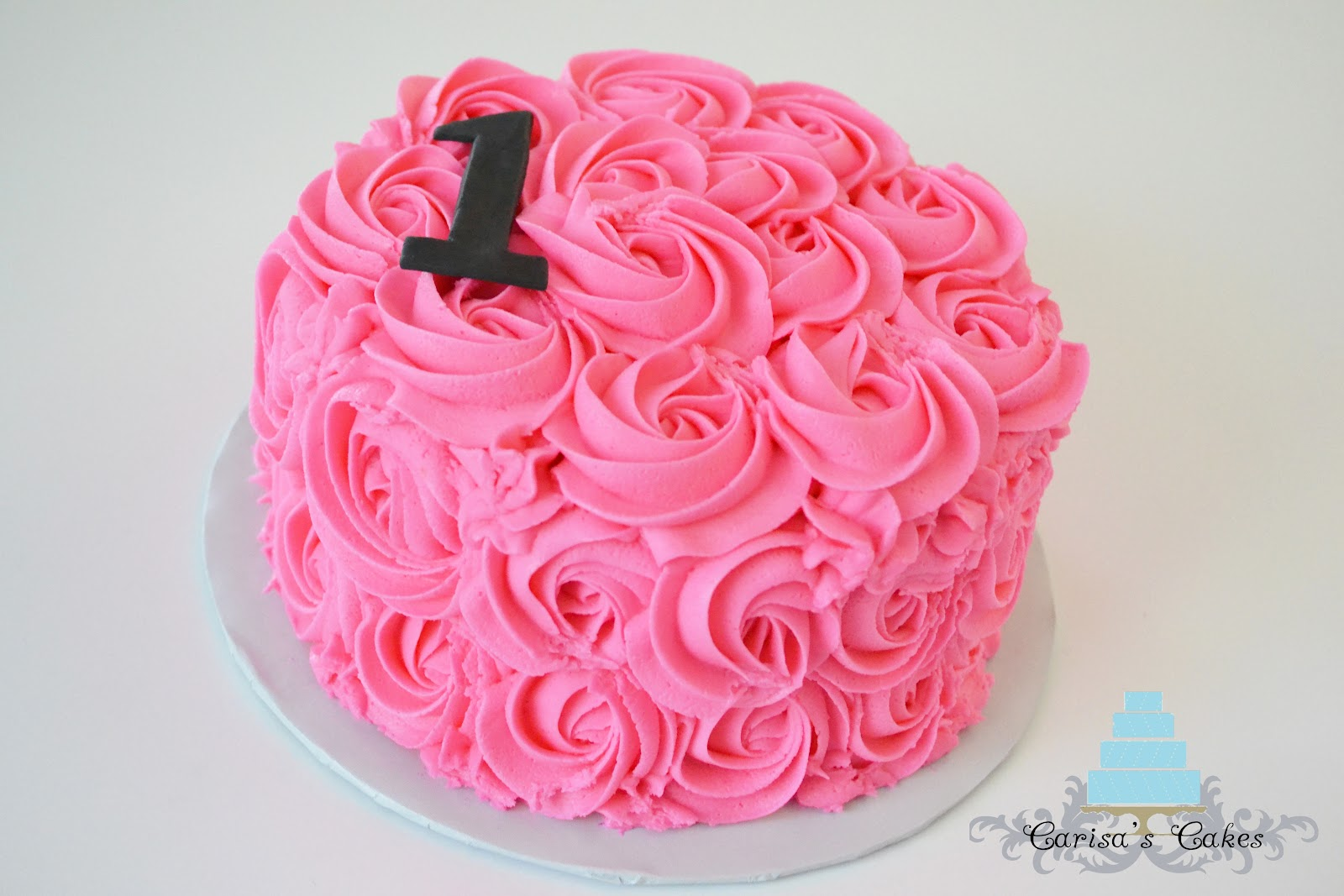 Birthday Cake Ideas In Rose Swirl