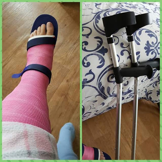 Broken Ankle my tears and cheers part six