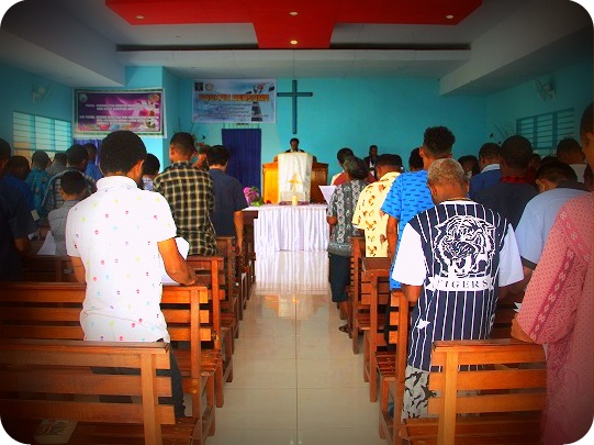 Warga Binaan Lapas Abepura Rayakan Paskah Bersama